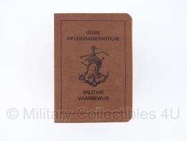 Genie Opleidingscentrum Militair Vaarbewijs - origineel