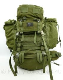 Zeldzame Defensie en Korps Mariniers Groene Low Alpine Saracen Groen rugzak 120 liter - 70 x 70 x 30 cm - origineel