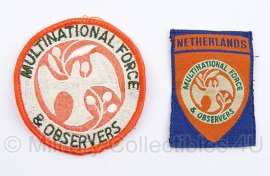Marechaussee Multinational force & observers emblemen set - origineel
