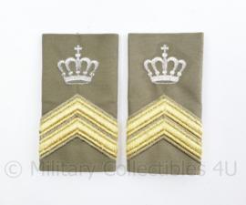 Defensie Stratotex epauletten paar - rang Sergeant Majoor Instructeur/ Opperwachtmeester Instr.- origineel