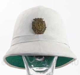 Antieke politie bobbyhelm zomer variant - custodian helmet - origineel