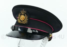 KL Landmacht platte pet GLT gala met roze bies en insigne voor Officieren - maat 59 - origineel