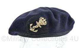Koninklijke Marine baret met insigne - wol met stoffen rand - maker Hassing - maat 61/62 -  origineel