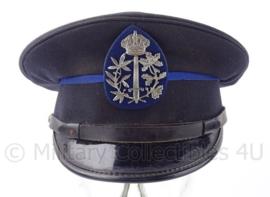 Belgische Politie platte pet met insigne - maat 55 - origineel
