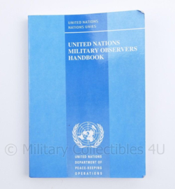 United Nations Military Observers  Handbook - 16,5 x 12 cm - origineel