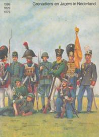 Boek Grenadiers en Jagers in Nederland - 1599, 1829, 1979 - afmeting 27 x 19,5 cm - origineel