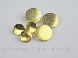 40 stuks Knopen set goudkleurig 27 stuks groot + 13 stuks klein - doorsnede 2cm + 1,4 cm - origineel