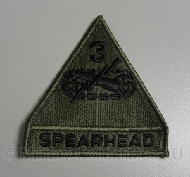 3rd armored Division patch - Spearhead - groen - origineel