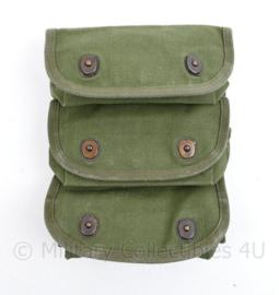 MVO Handgranaat koppeltas groen - Identiek aan Wo2 US model - Webbing - 24 x 19 x 5 cm - origineel