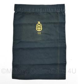 Defensie halsdoek Regiment 111 Technische Troepen   - zwart - origineel