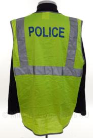 Politie geel reflectie hesje- Police - size XL - origineel