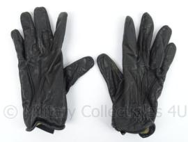 KMAR Marechaussee fouilleer handschoenen - zwart leder - gedragen - maat 10 - origineel