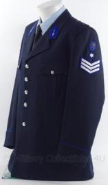 """Belgische politie uniform jas - rang """"hoofdagent"""" - zonder schouder epauletten - origineel"""