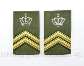 KL Nederlandse leger epauletten schouderstukken set vanaf 2000 - Sergeant-Majoor Instructeur - origineel