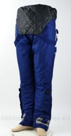 Bretelbroek met reflectie en warme voering  - donkerblauw - Maat 53 - ongedragen - origineel