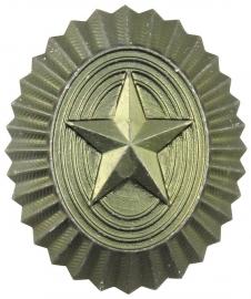 Russisch metalen petembleem groene ster - origineel