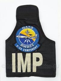 AWACS NATO Air Base E-3A IMP International Military Police armband HUIDIG  model! - origineel