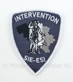 Belgische Politie Intervention SIE ESI Directie van de speciale eenheden embleem - met klittenband - 9 x 7 cm