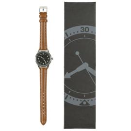 Vintage Frans piloten horloge 1940 - bruine leren band