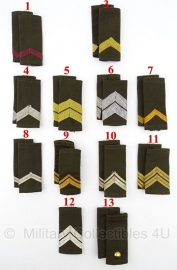 KL set epauletten schouderstukken Rangen Blouse 1963-1984  - origineel