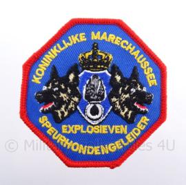 """KMAR Koninklijke Marechaussee  Speurhondengeleider """"explosieven"""" embleem - met klittenband - diameter 8 cm"""