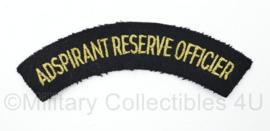 Koninklijke Marine enkele straatnaam Adspirant Reserve Officier - 13 x 3 cm - origineel