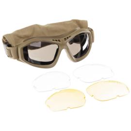 Revision Bullet Ant TAN- Eyewear Systeem ballistische bril MET tas - licht tot ongebruikt - origineel