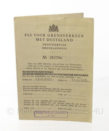 Pas voor grensverkeer met Duitsland - 1953 - origineel