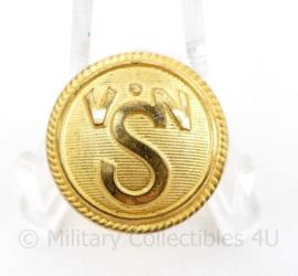 Marine scheepvaart VNS Verenigde Nederlandsche scheepvaart maatschappij  knoop 22 MM goudkleurig - origineel