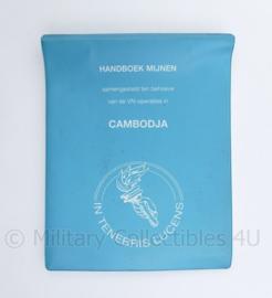 Korps Mariniers Cambodja 1992 handboek mijnen manual confidentieel - 19 x 15 x 2 cm  - origineel
