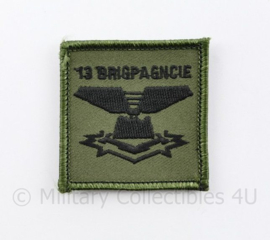 KL Nederlandse leger 13 BRIGPAGNCIE 13 Brigadepantsergeniecompagnie borstembleem - met klittenband - 5 x 5 cm - origineel