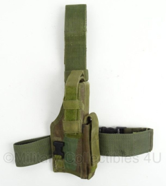 KL Landmacht en US Army woodland camo beenholster - Eagle Industries Drop Leg holster - rechtshandig - afmeting 50 x 50 x 20 cm - origineel