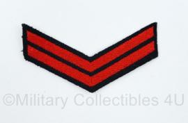 Koninklijke Marine rang embleem - rang Korporaal - 9 x 4,5 cm - origineel