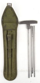 KL Landmacht pompstok set 50 kaliber - met draagtas - 1958 - 34 x 7,5 cm - origineel