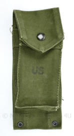 US Army pocket ammunition magazine M14 rifle - Vietnam oorlog 1967 - groen - 22 x 9 x 3 cm - origineel
