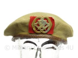 """KL Koninklijke Landmacht MVO baret jaren 50 met insigne """"Intendance"""" - zeldzaam vroeg model - maat 56 - origineel"""