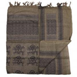 Shemagh PLO sjaal - groen met Doodshoofden