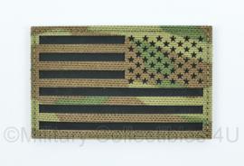 Amerikaanse leger reversed infrarood patch - multicam - met klittenband - Amerikaanse vlag - 5 x 8 cm