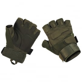 "Tactical gloves - zonder vingers - ""Protect"" GROEN"