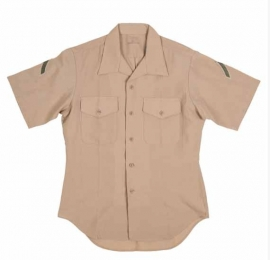 USMC US Marine Corps Usmc Short Sleeve Khaki Uniform Shirt - PRIVATE FIRST CLASS PFC - origineel