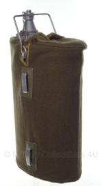 Water gamel & Voedsel gamel 6 liter alluminium met hoes - ongebruikt - origineel