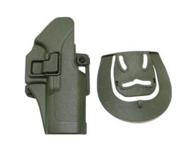 Quick Release holster Glock 17 dubbele bevestiging - RECHTS - Groen