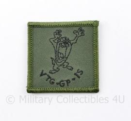KL Nederlandse leger VTG GP I S defensie borstembleem - met klittenband - 5 x 5 cm - origineel
