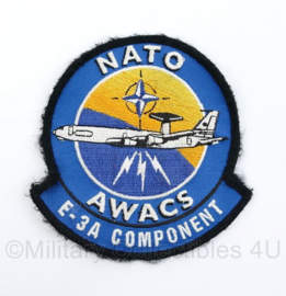 KLu Luchtmacht Nato Awacs E-3A Component - met klittenband - 10 x 10 cm - origineel
