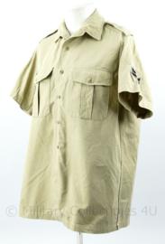 Korps Mariniers tropen shirt Khaki met korte mouw - rang Korporaal - maat 40- originele