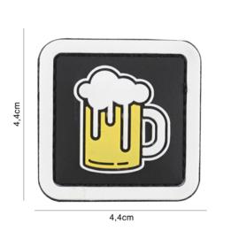 Embleem 3D PVC met klittenband - Bier - 4,4 x 4,4 cm