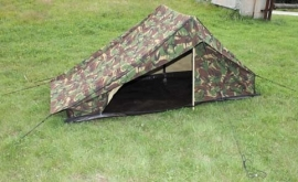 KL schakelbare tent met vast grondzeil - woodland camo - origineel