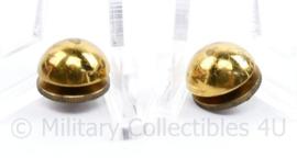Defensie Adjudant stip PAAR voor op de epauletten  - diameter 1,5 cm - origineel