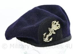 Koninklijke Marine baret donkerblauw wol met stoffen rand - maat 57 -maker Noorloos - origineel