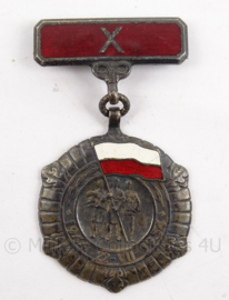 Poolse medaille - Medal of the 10th anniversary of people's Poland - 4 x 7 cm - origineel